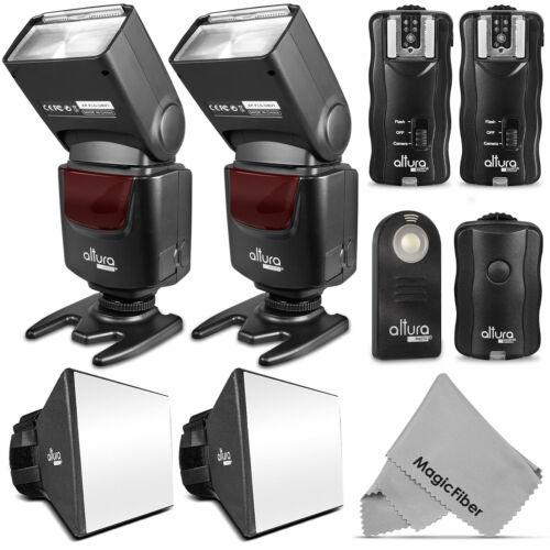 Altura Photo® Studio Flash Bundle For Nikon 2 Flashes + Trigger Set + Diffuser -