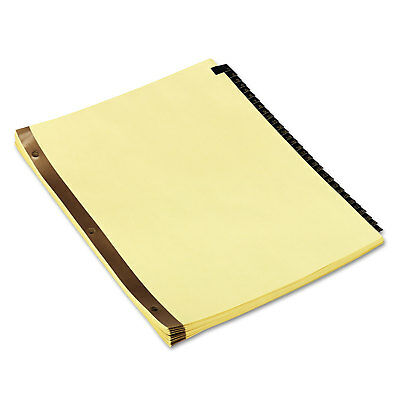UNIVERSAL Leather-Look Mylar Tab Dividers 31 Numbered Tabs Letter Black/Gold Set ()