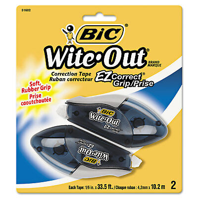 Bic Wite-out Ez Correct Grip Correction Tape Nonrefill 16 X 402 2pk Woecgp21