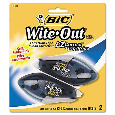 Bic Wite-out Ez Correct Grip Correction Tape Nonrefill 16 X 402 2pk Woecgp21