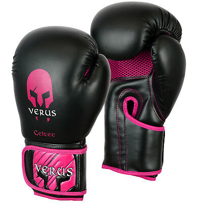 Pink Boxing Gloves martial arts 12oz ladies rex leather kickboxing women's MMA