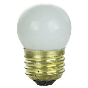 (4 Pack) 7.5-Watt S11 Medium Base 7.5S11 Incandescent Sign Light Bulb White