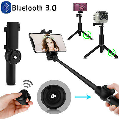 Extendable Bluetooth Tripod Selfie Stick Remote Shutter For iPhone 11 Pro Max XS
