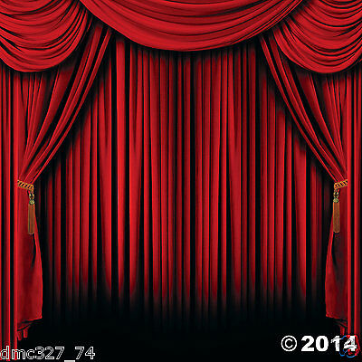 HOLLYWOOD Movie Magic Show Circus Party Photo Booth RED CURTAIN BACKDROP Prop](Photo Booth Curtains)