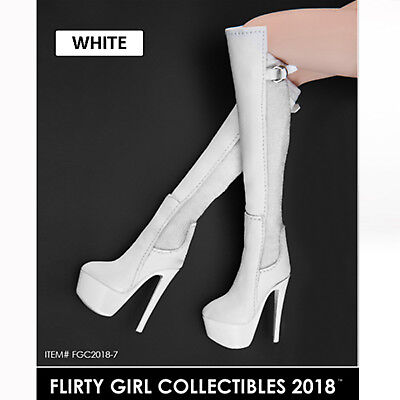 1/6 FLIRTY GIRL FGC2018-7/8/9 Women's High Heels Boots Female Shoes Collectible ()