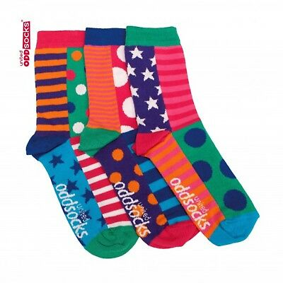 3 Verrückte Socken Oddsocks Chloe Frauen Strümpfe bunt Linien color Damen Girls