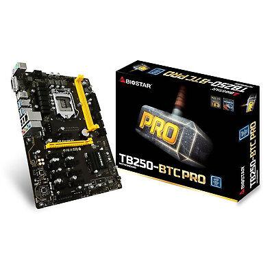 Biostar Motherboard Core i7/i5/i3 LGA1151 MB Intel B250 DDR4 TB250-BTC PRO