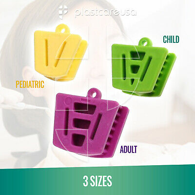 Dental Bite Block Autoclavable Silicone Mouth Props Adultchild Bag Of 3 Pcs