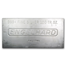 100 oz Silver Bar - Engelhard - SKU #166597