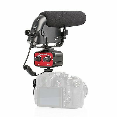Movo DSLR Video Audio Kit w/ Pro Shotgun Condensor Microphone & 2-Channel Mixer