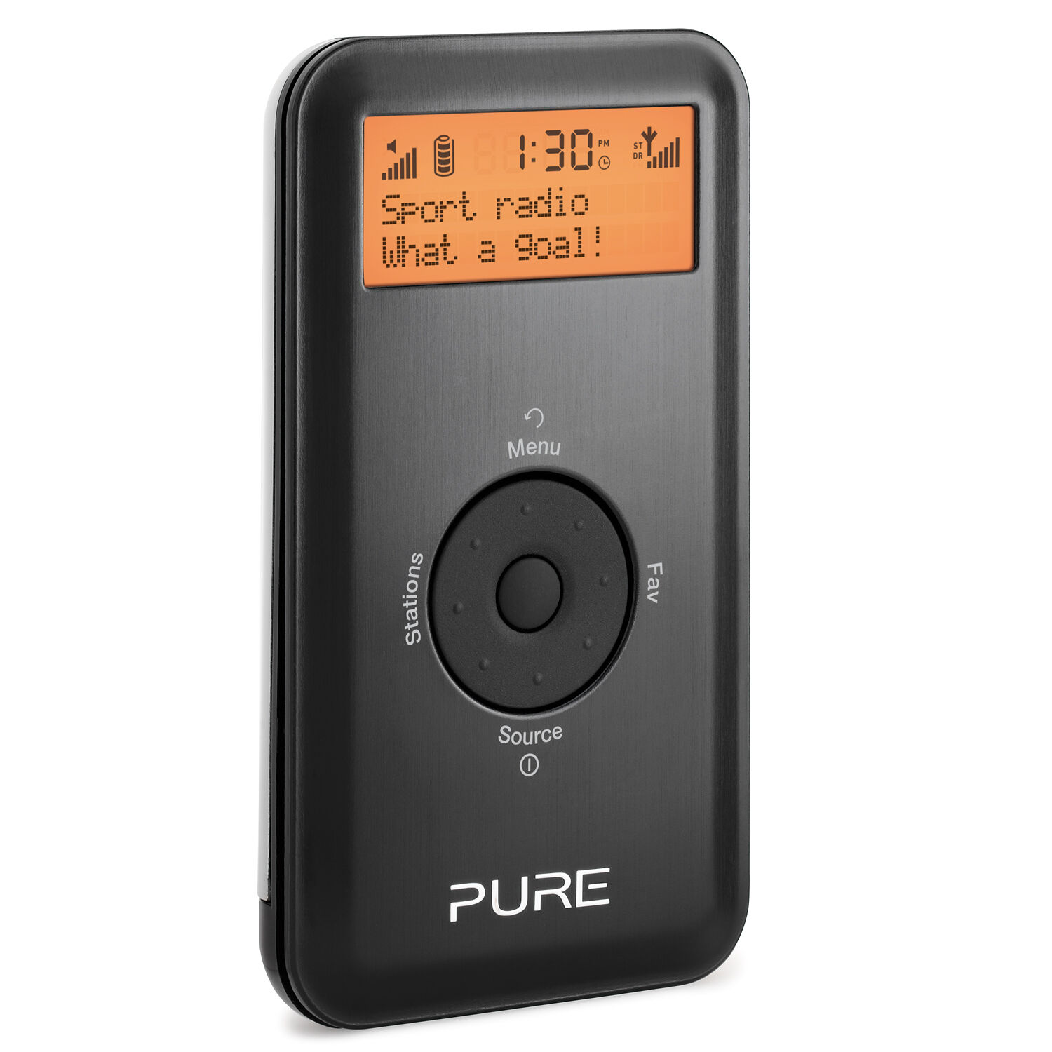 Pure Move 2500 Black Pocket Size Personal DAB Digital & FM Radio Inc ChargePak