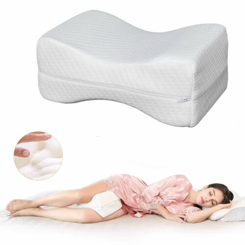 Unisex Leg Pillow Memory Foam Knee Positioner Legs Cushion With Washable Cover