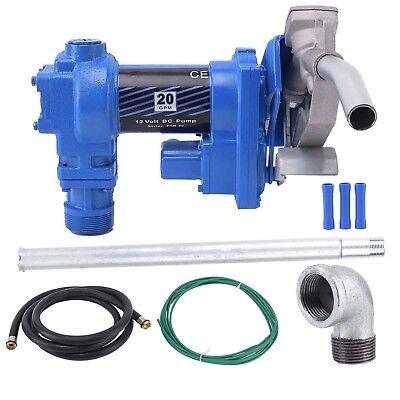 Fuel Transfer Pump 12v Dc 20 Gpm Diesel Gas Gasoline Kerosene Car Tractor Trucks