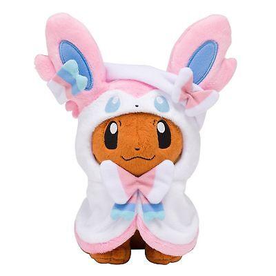 Eevee Pokemon Plush - Pokemon Center Eevee Poncho Sylveon Nymphia Plush Doll Soft Figure Toy Gift 7