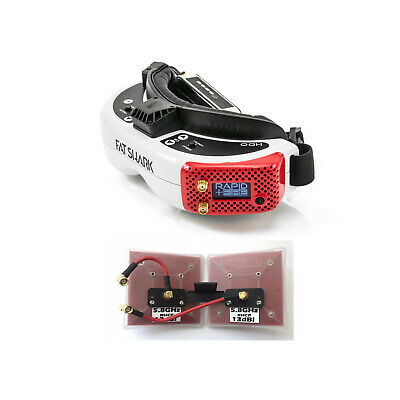 Fat Shark HDO Goggles + ImmersionRC rapidFIRE Module + SpiroNET LZR Long Range, used for sale  Shipping to Canada