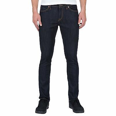 Volcom Men's 2x4 Skinny Fit Denim Jeans Rinse Black Clothing Apparel Volcom Black Jeans