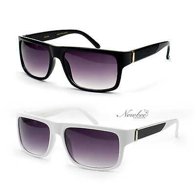 Sunglasses Rectangular Plain Classic Style Black White Brown (Plain Black Sunglasses)