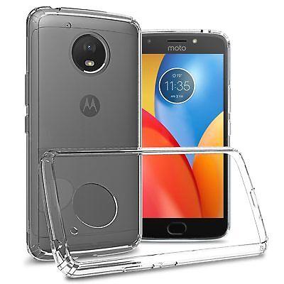 Clear Tpu Bumper Hard Back Cover Case For Motorola Moto E4 Plus  E Plus 4Th Gen