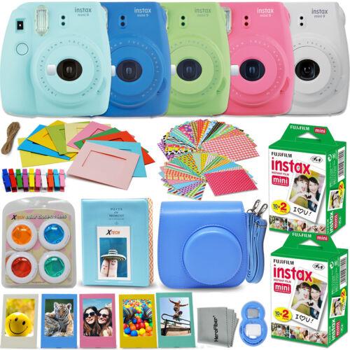 Fujifilm Instax Mini 9 Instant Camera  + 40 Sheet Film+Acces
