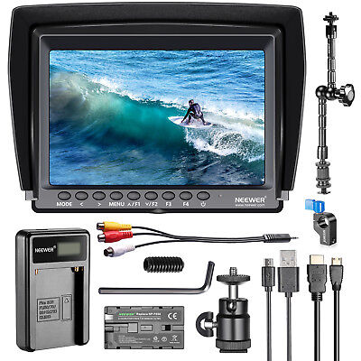 "Neewer F100 7"" 1280x800 IPS Camera Field Monitor with Batter"