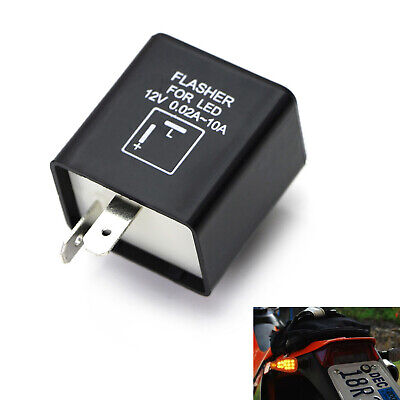 2-Pin Electronic LED Flasher Relay Fix For Turn Signal Light Fast Hyper