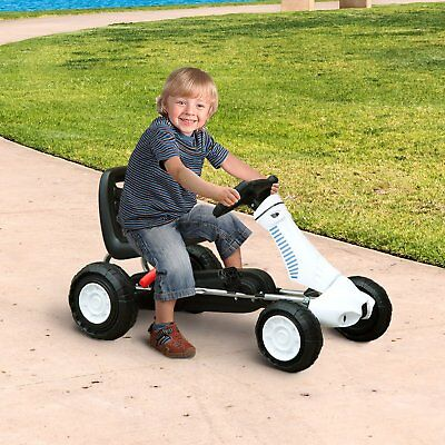 Go Kart Coche de Pedales Karts Deportivo para Niños 3-8 Años Freno 83.5x48x48cm