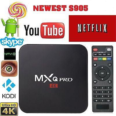 MXQ PRO S905x 4K Smart TV BOX Quad Core HD WIFI Media Player Android Jailbroke