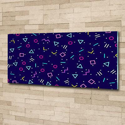 Glas-Bild Wandbilder Druck auf Glas 125x50 Deko Sonstige Geometrische Figuren