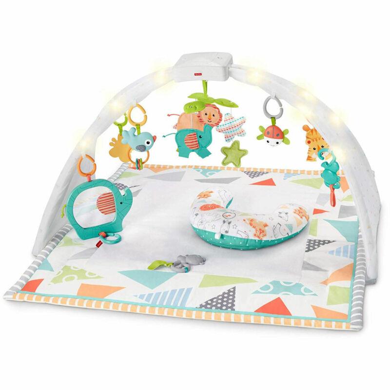 Fisher Price Safari Dreams Music & Lights Sensory Baby Gym Play Mat (OpenBox)
