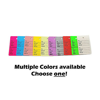 Two-part Number Style Size Price Perforated Coupon Tags - 1.25 X 1.875