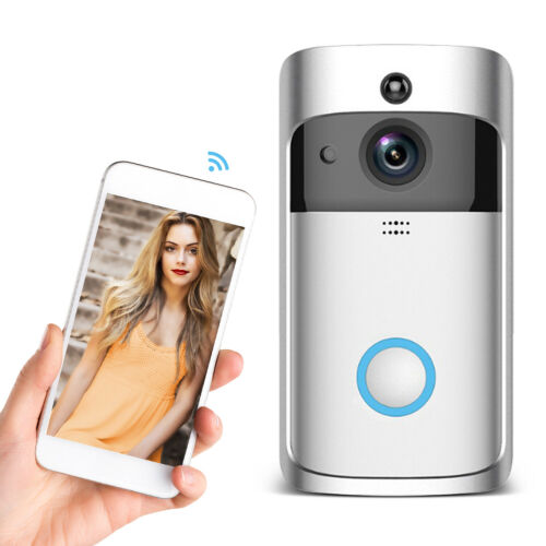Smart Video Doorbell Wireless WiFi HD 1080P Camera  Work With Free APP/Battery