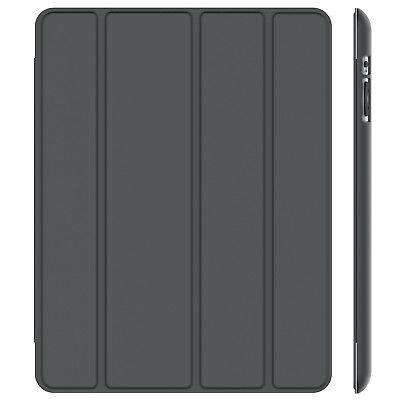 JETech Case for Apple iPad 2 3 4 (Old Model) Smart Cover Auto Sleep/Wake Grey
