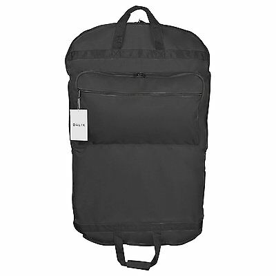 "Dalix 39"" Business Garment Bag Cover for Suits and Dresses in Black"