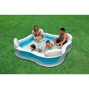 Intex Inflatable Swim Centre Family Lounge Large Paddling Swimming Seat Pool