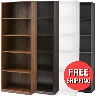 71 tall 5 shelf bookcase closed back