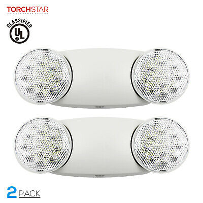 Torchstar Led Emergency Light With Battery Backup Adjustable Two Round Heads