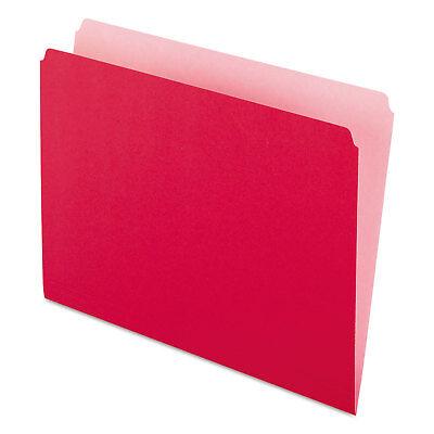 Pendaflex Colored File Folders Straight Cut Top Tab Letter Redlight Red 100box