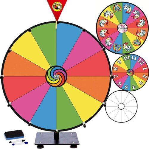 """LuckyWheel Prize Wheel Spinner Wheel of Fortune Driking Game Spin the Wheel, 15"""""""