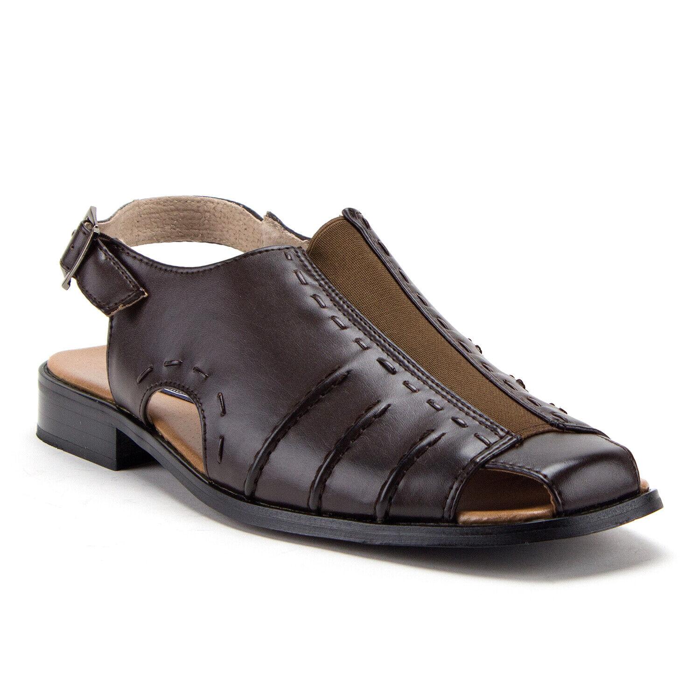 Majestic Men's 33225 Sling Back Covered Toe Dress Shoe Sandals