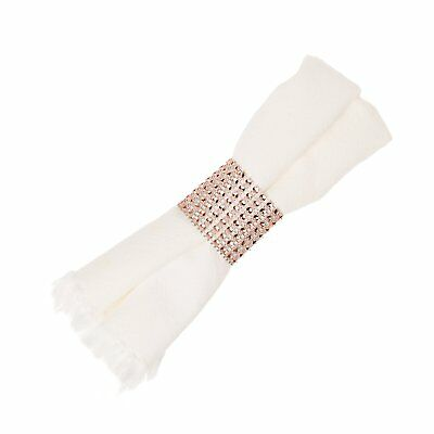 Napkin Rings for Wedding, Napkin Ring Holders Bulk (Rose Gold, 50)