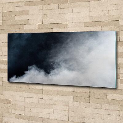 Glas-Bild Wandbilder Druck auf Glas 125x50 Deko Sonstige Weißer Rauch