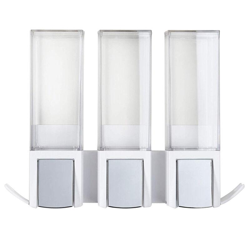 Better Living 77354 CLEVER Luxury Shower/Bath Liquid Wall Dispenser, White