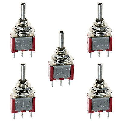 5 X Onoffon Mini Miniature Toggle Switch Car Dash Spdt