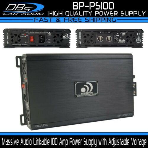 Massive Audio BP-PS100 100 Amp Linkable Power Supply Adjustable Voltage 10v-16v