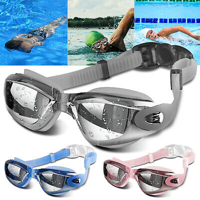 Swimming Goggles Anti-Fog UV Protection Swim Electric Plating Glasses Men (Swim Goggles Fog)