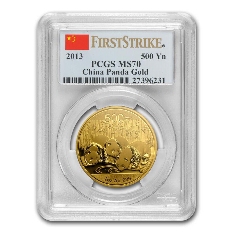 2013 China 1 Oz Gold Panda Ms-70 Pcgs (fs) - Sku #84199