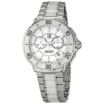 $1735.65 - BRAND NEW TAG HEUER FORMULA 1 CAH1211.BA0863 DIAMOND WHITE CERAMIC WATCH
