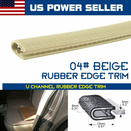 Car Parts - 4pcs 3FT Car Accessory Rubber Trim Door Seal Strip Molding Lock Beige Auto Parts