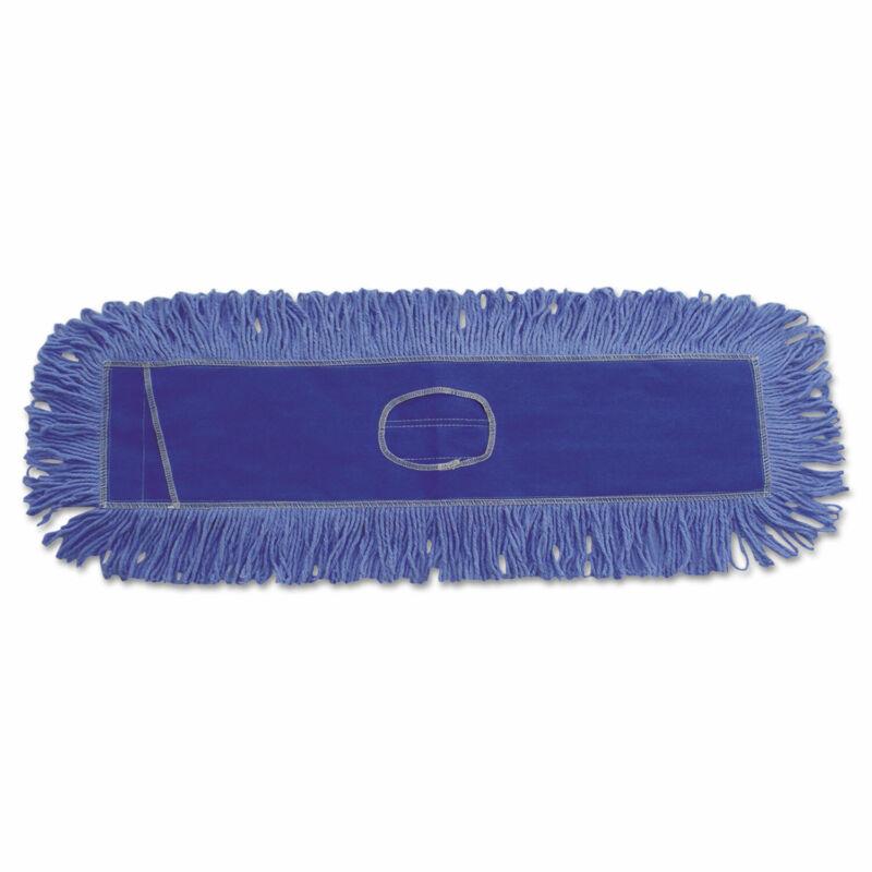 Boardwalk Mop Head Dust Looped-End Cotton/Synthetic Fibers 24 x 5 Blue 1124