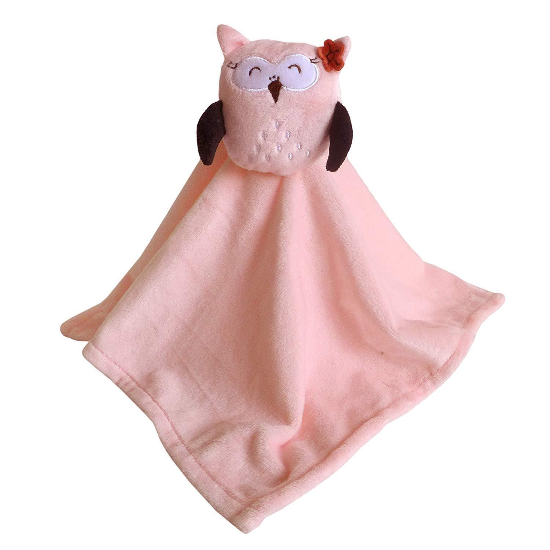 Baby Schnuffeltuch Mädchen Baby Schmusetier - Eule